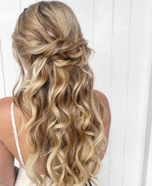 23 Gorgeous Formal Half Updos You'll Fall In Love With Intended For Half Up Long Hairstyles (View 6 of 25)
