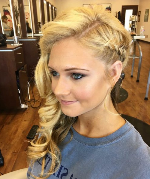 23 Hottest Side Swept Hairstyles To Try In 2019 Inside Double Twist And Curls To One Side Prom Hairstyles (View 3 of 25)