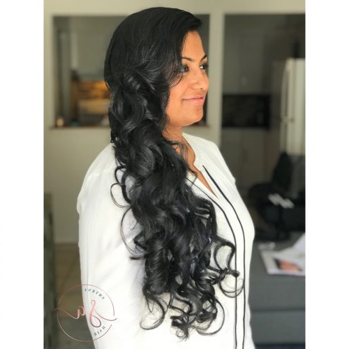 23 Hottest Side Swept Hairstyles To Try In 2019 With Regard To Pinned Up Curls Side Swept Hairstyles (View 14 of 25)