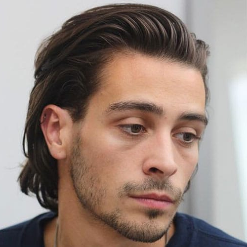 23 Men With Long Hair That Look Good (2019 Guide) For Long Hairstyles Half Pulled Back (View 14 of 25)