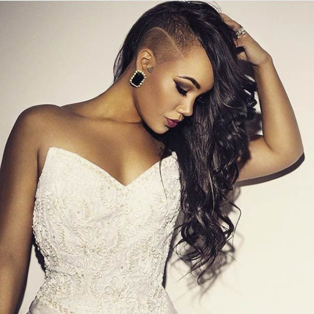 23 Most Badass Shaved Hairstyles For Women | Stayglam Hairstyles Within Half Shaved Long Hairstyles (View 3 of 25)