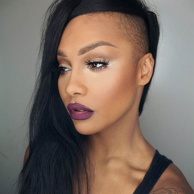 23 Most Badass Shaved Hairstyles For Women | Stayglam Intended For Half Shaved Long Hairstyles (View 18 of 25)