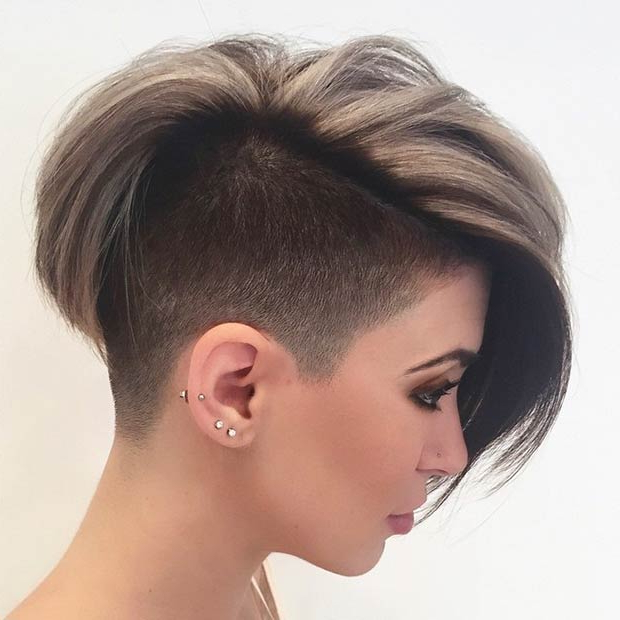 23 Most Badass Shaved Hairstyles For Women | Stayglam Throughout Half Short Half Long Hairstyles (View 16 of 25)