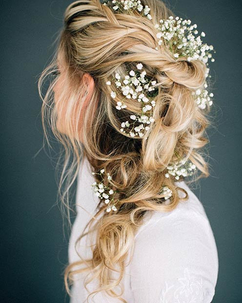 23 Romantic Wedding Hairstyles For Long Hair   Stayglam Regarding Hairstyles For Long Hair Wedding (View 17 of 25)