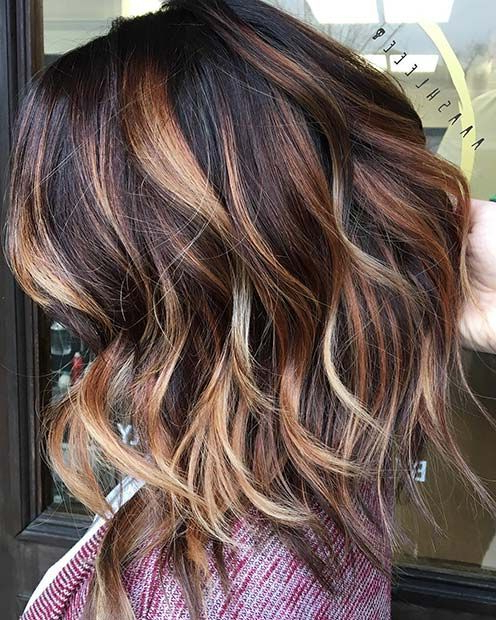 23 Stylish Lob Hairstyles For Fall And Winter | Stayglam Hairstyles Inside Choppy Layers Long Hairstyles With Highlights (View 13 of 25)