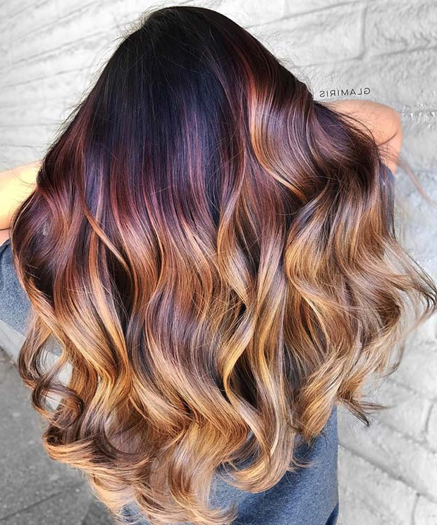 23 Unique Hair Color Ideas For 2018 | Stayglam Inside Long Hairstyles With Color (View 18 of 25)