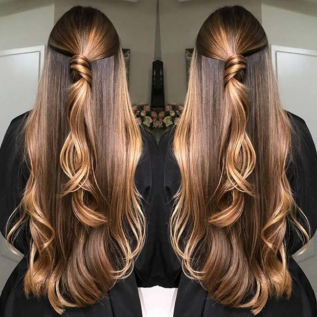 23 Unique Hair Color Ideas For 2018 | Stayglam Regarding Long Hairstyles And Colors (View 7 of 25)