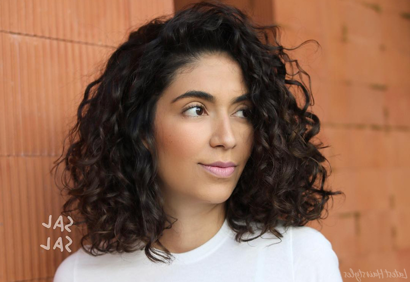24 Best Shoulder Length Curly Hair Ideas (2019 Hairstyles) Within Long Hairstyles Naturally Curly Hair (View 9 of 25)