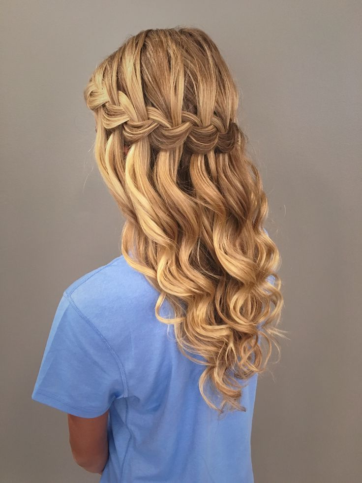 24 Stylish Waterfall Braid Hairstyles For Women 2018 | Women's Throughout Chic Waterfall Braid Prom Updos (View 13 of 25)