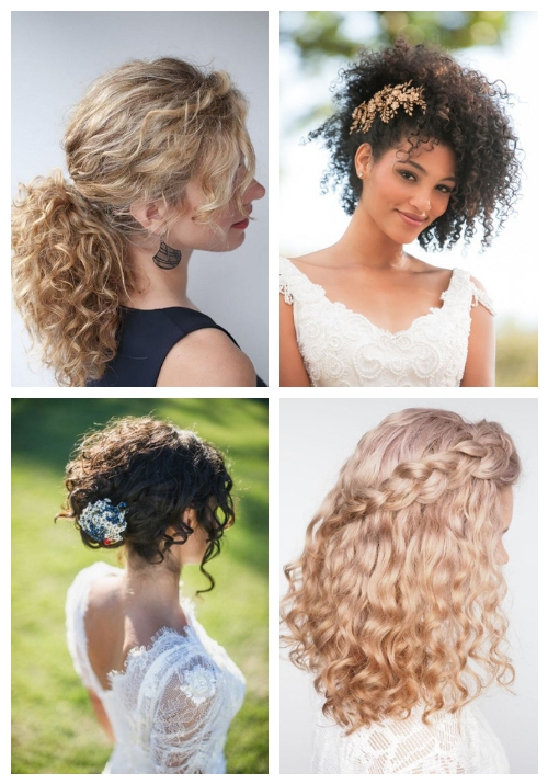 24 Wedding Hairstyles For Naturally Curly Hair | Happywedd With Long Curly Hairstyles For Wedding (View 10 of 25)