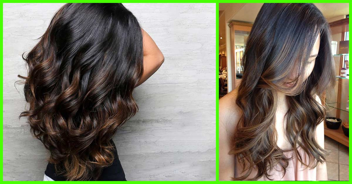25 Balayage Hairstyles For Black Hair Pertaining To Long Thick Black Hairstyles With Light Brown Balayage (View 7 of 25)