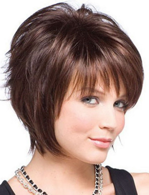 25 Beautiful Short Haircuts For Round Faces 2017 Within Long Hairstyles For Round Faces And Thin Hair (View 19 of 25)