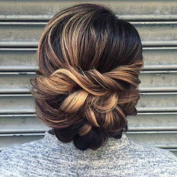 25 Best Formal Hairstyles To Copy In 2018 | Stayglam With Elegant Twist Updo Prom Hairstyles (View 10 of 25)