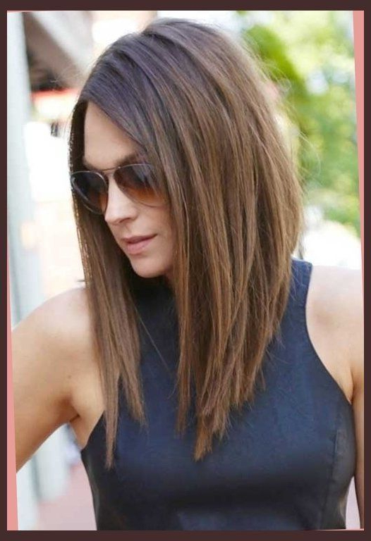25+ Best Ideas About Long Angled Bob Hairstyles On Pinterest With Regard To Angled Long Haircuts (View 4 of 25)