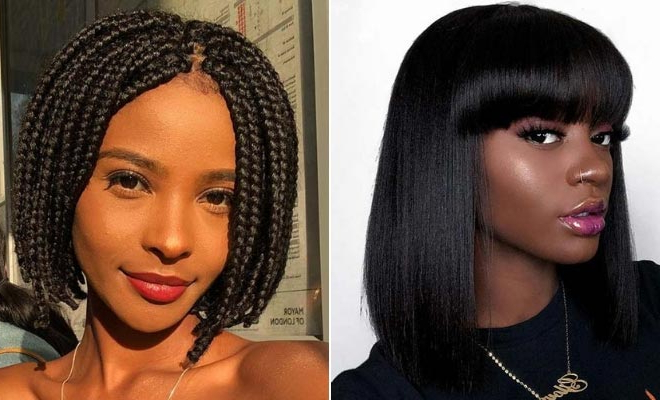 25 Bob Hairstyles For Black Women That Are Trendy Right Now | Stayglam Inside Long Haircuts For Black Women (View 9 of 25)