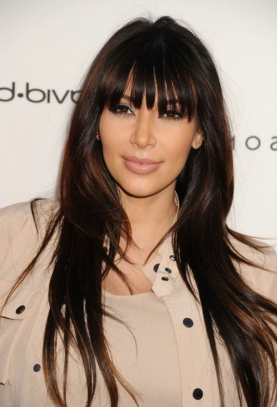 25 Celebrity Haircuts That'll Make You Want Bangs, Stat | Glamour Intended For Black Long Hairstyles With Bangs And Layers (View 25 of 25)