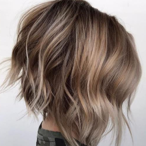 25 Chic Short Hairstyles For Thick Hair – The Trend Spotter With Regard To Blonde Textured Haircuts With Angled Layers (View 25 of 25)