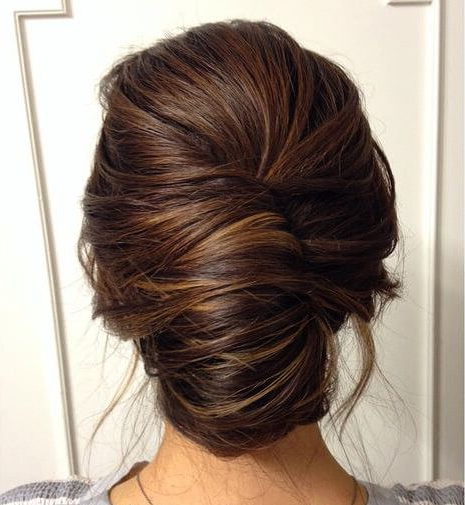 25 Fabulous French Twist Updos: Stunning Hairstyles With Twists Within Messy Twisted Chignon Prom Hairstyles (View 3 of 25)