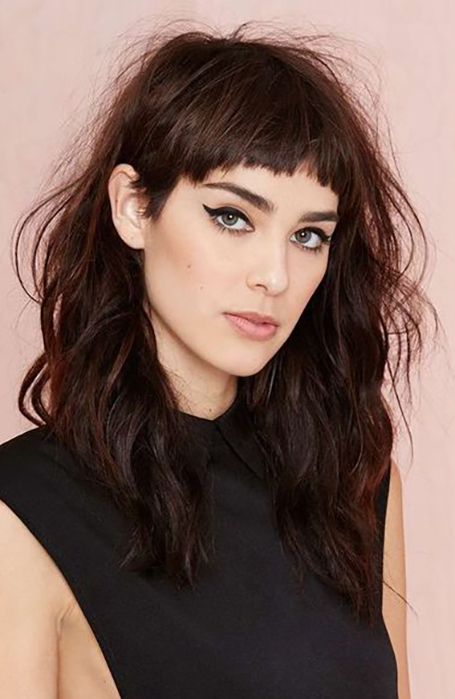25 Gorgeous Long Hair With Bangs Hairstyles – The Trend Spotter In Short Bangs Long Hairstyles (View 3 of 25)