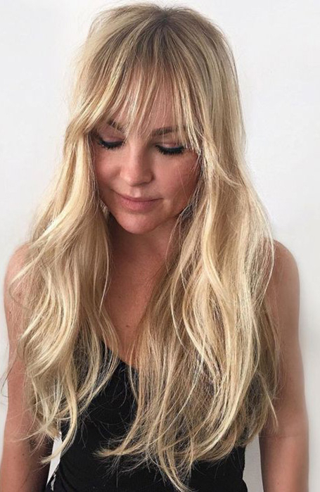 25 Gorgeous Long Hair With Bangs Hairstyles – The Trend Spotter Intended For Long Length Hairstyles With Fringe (View 6 of 25)