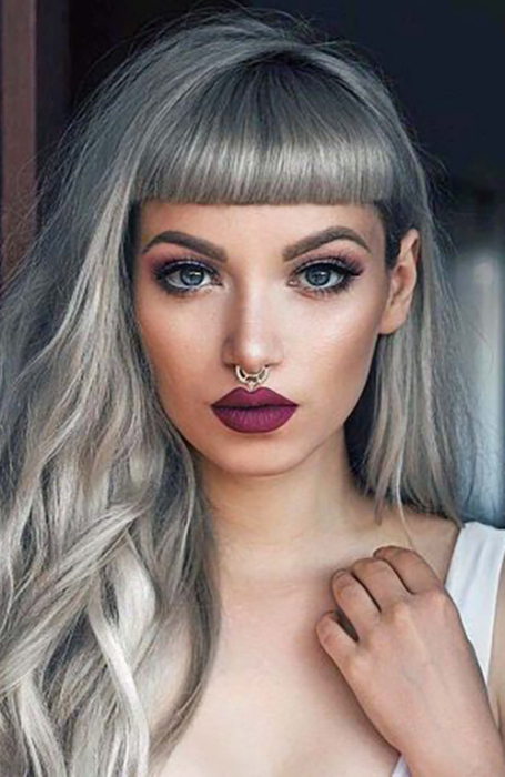 25 Gorgeous Long Hair With Bangs Hairstyles – The Trend Spotter Throughout Short Fringe Long Hairstyles (View 23 of 25)