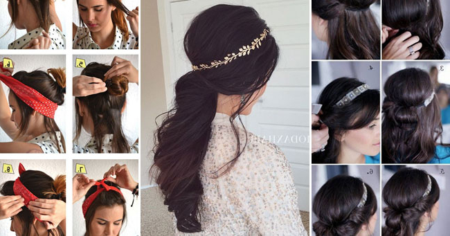 25 Ideas Of Hairstyles For Long Hair With Headbands In Long Hairstyles With Headbands (View 2 of 25)