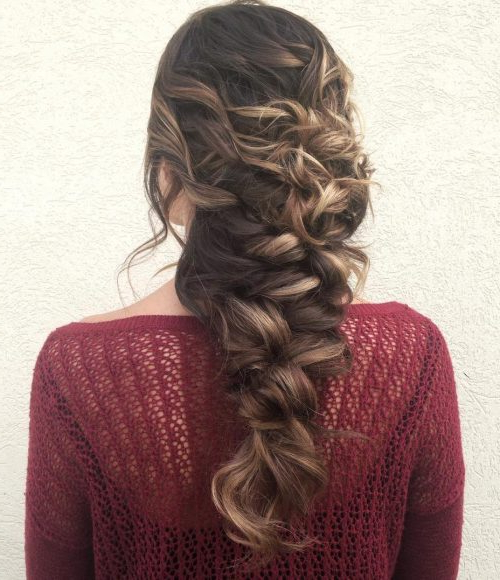 25 Mermaid Hairstyles For Long Hair Braids 2018 [Updated] Pertaining To Cascading Curly Crown Braid Hairstyles (View 20 of 25)