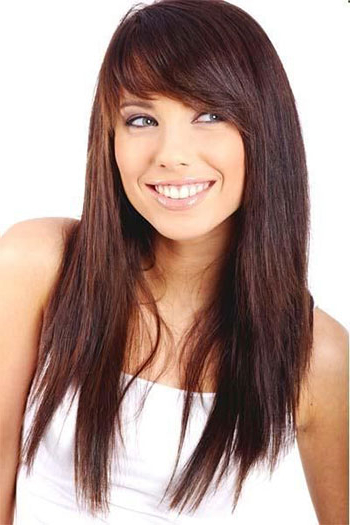 25 Modern Long Haircuts With Side Bangs & Layers For Oval & Round Within Long Haircuts With Bangs For Round Faces (View 13 of 25)