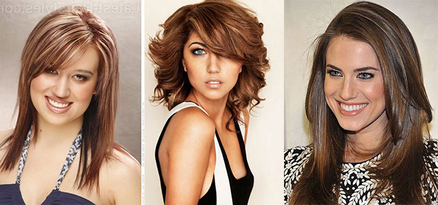 25 + Modern Medium Length Haircuts With Bangs , Layers For Thick Regarding Long Hairstyles For Thick Hair And Round Faces (View 11 of 25)