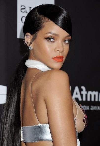 25 Most Iconic Rihanna Hairstyles And Haircuts Regarding Rihanna Long Hairstyles (View 24 of 25)