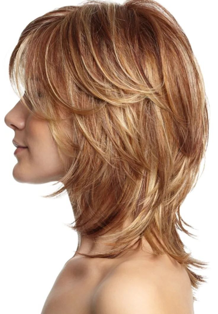 25 Most Superlative Medium Length Layered Hairstyles | Paul Hornsby With Long Feathered Strawberry Blonde Haircuts (View 7 of 25)