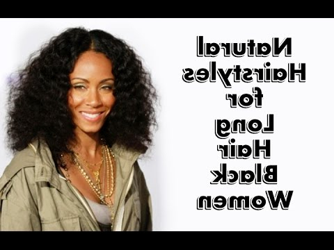 25 Natural Hairstyles For Long Hair Black Women – Youtube With Long Hairstyles Natural (View 20 of 25)