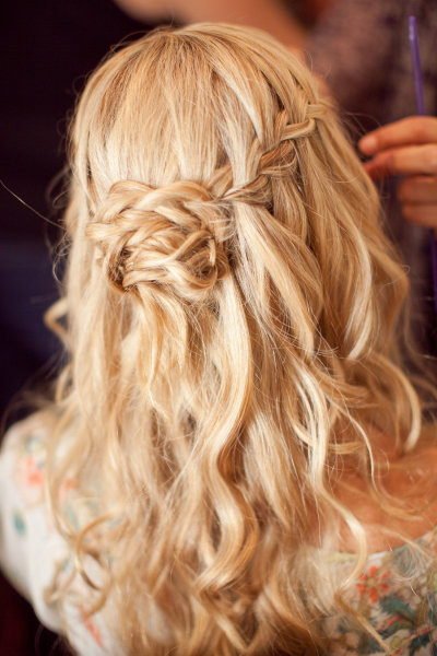 25 Of The Most Beautiful Braided Bridal Updos : Chic Vintage Brides Pertaining To Chic Waterfall Braid Prom Updos (View 23 of 25)