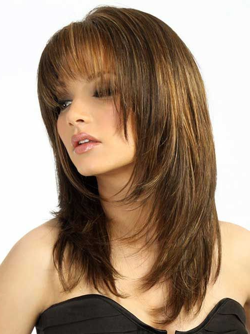 Featured Photo of Long Hairstyles With Bangs And Layers For Round Faces
