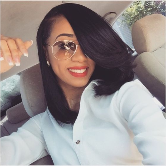 25 Stunning Bob Hairstyles For Black Women Inside Long Bob Hairstyles With Weave (View 18 of 25)