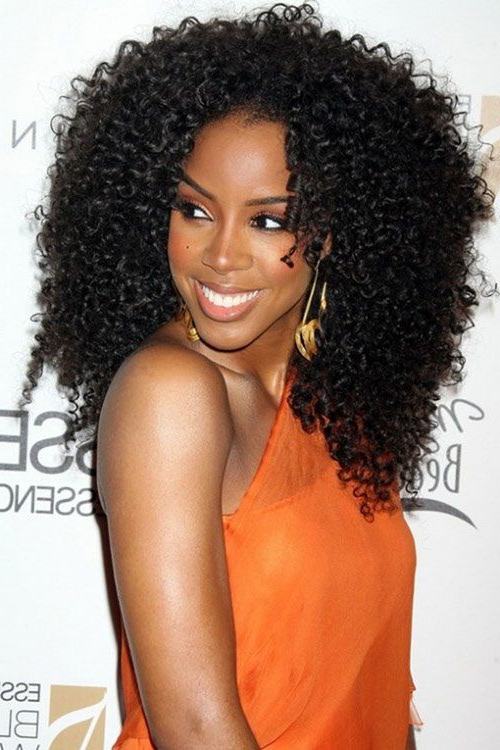 25 Trendy African American Hairstyles 2019 – Hairstyles Weekly In Curly Long Hairstyles For Black Women (View 8 of 25)