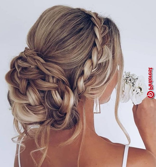 25 Updo Wedding Hairstyles For Long Hair « New Hairstyle Throughout Blooming French Braid Prom Hairstyles (View 17 of 25)