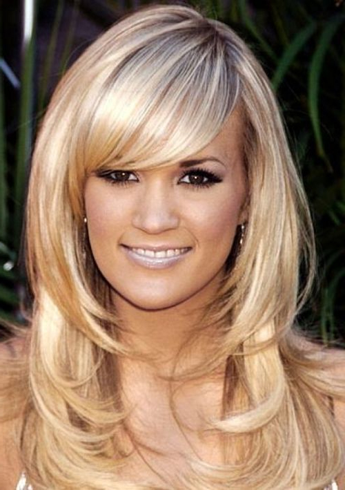 26 Haircuts With Side Bangs And Layers | Hairstyles Ideas Within Long Haircuts Layers And Side Bangs (View 8 of 25)