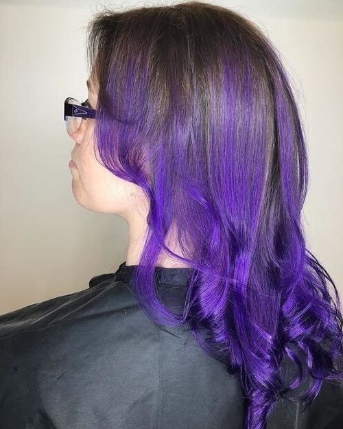 26 Incredible Purple Hair Color Ideas Trending In 2019 For Purple Long Hairstyles (View 25 of 25)