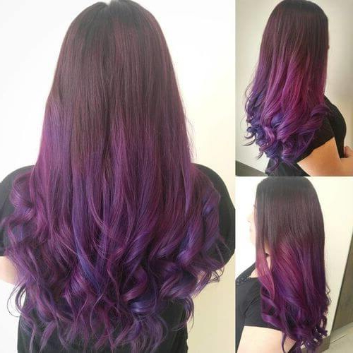 26 Incredible Purple Hair Color Ideas Trending In 2019 Throughout Purple Long Hairstyles (View 14 of 25)