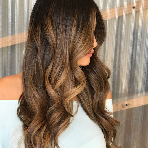 26 Prettiest Hairstyles For Long Straight Hair In 2019 Regarding Waist Length Brunette Hairstyles With Textured Layers (View 5 of 25)