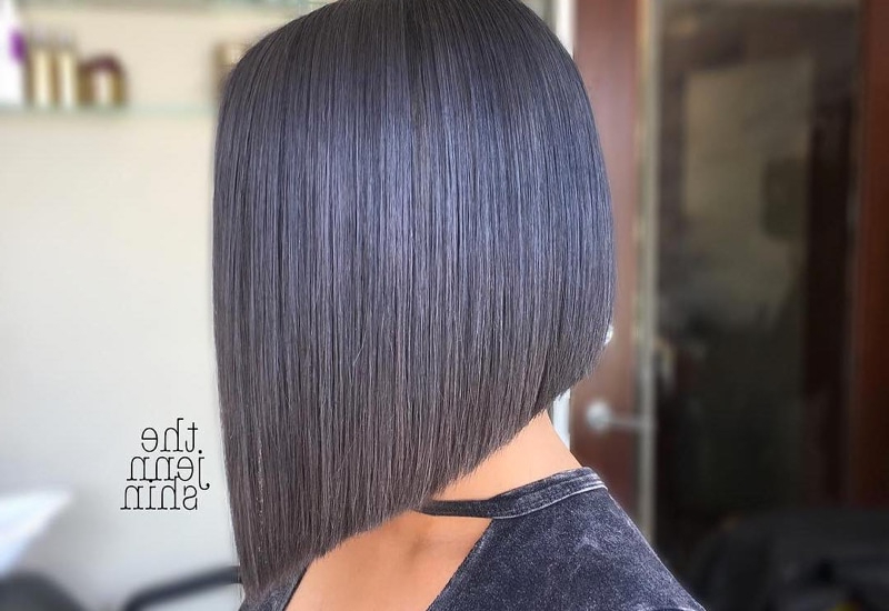 27 Angled Bob Hairstyles Trending Right Right Now For 2019 Throughout Hairstyles Long Inverted Bob (View 7 of 25)