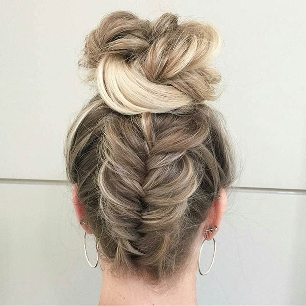 27 Gorgeous Prom Hairstyles For Long Hair | Stayglam Hairstyles With Regard To Upside Down Braid And Bun Prom Hairstyles (View 2 of 25)