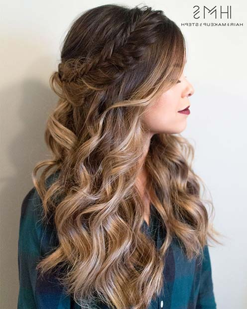 27 Gorgeous Prom Hairstyles For Long Hair   Stayglam Regarding Long Hairstyles Prom (View 3 of 25)