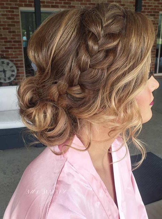 27 Gorgeous Prom Hairstyles For Long Hair | Stayglam With Regard To Messy Braided Prom Updos (View 24 of 25)