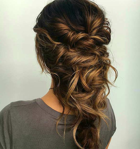 27 Gorgeous Prom Hairstyles For Long Hair | Stayglam Within Twisting Braided Prom Updos (View 13 of 25)