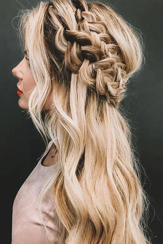 27 Gorgeous Wedding Braid Hairstyles For Your Big Day Pertaining To Double Crown Braid Prom Hairstyles (View 10 of 25)