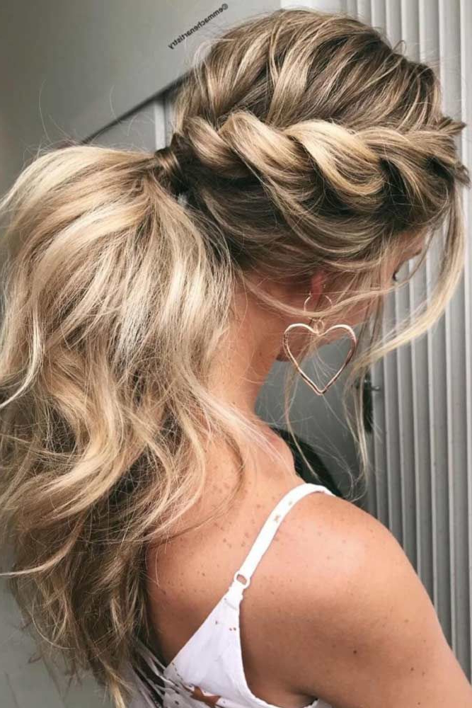 27 Perfect Prom Hair Styles For Short, Medium, And Long Hair | Hair With Complex Looking Prom Updos With Variety Of Textures (View 16 of 25)