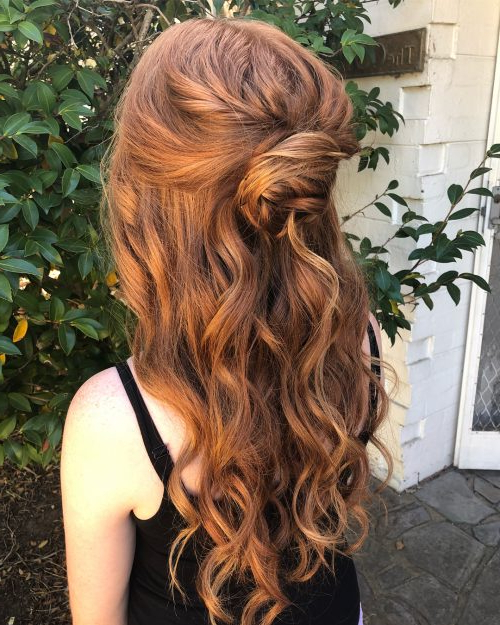 27 Prettiest Half Up Half Down Prom Hairstyles For 2019 Regarding Wavy Prom Hairstyles (View 22 of 25)