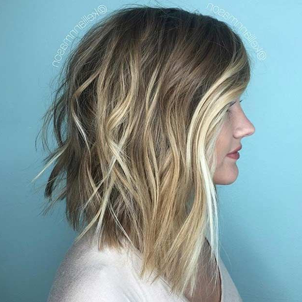 27 Pretty Lob Haircut Ideas You Should Copy In 2017 | Stayglam With Regard To Blonde Textured Haircuts With Angled Layers (View 3 of 25)